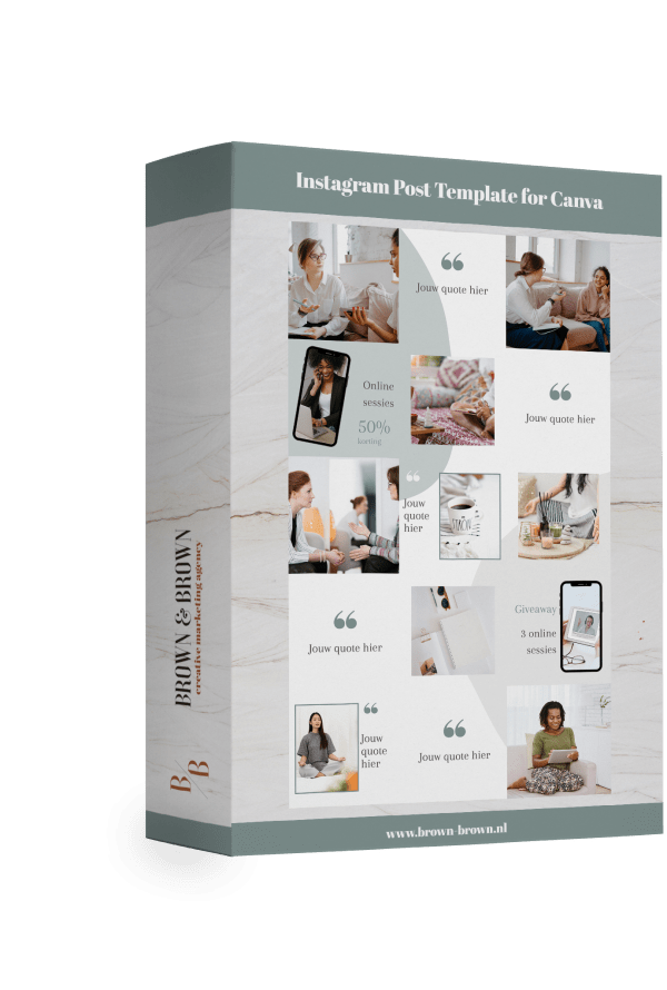 Instagram template Canva template coaches